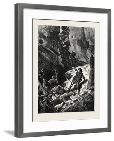 Joan of Arc (Jean D'Arc) at the Siege of Paris--Framed Giclee Print