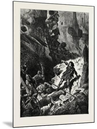 Joan of Arc (Jean D'Arc) at the Siege of Paris--Mounted Giclee Print