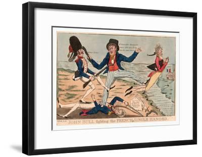 John Bull Fighting the French Single Handed--Framed Giclee Print
