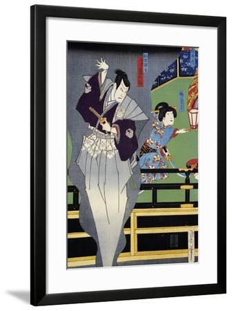 Lover Spying on His Beloved--Framed Giclee Print