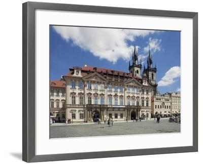 Kinský Palace and the Gothic Church of Our Lady before Tyn on the Old-Town Square--Framed Photographic Print