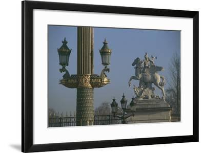 Lampposts Added During the 19th Century Upgrade of the Place De La Concorde--Framed Photographic Print