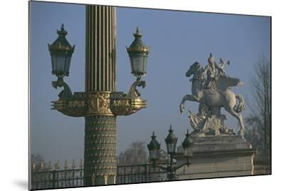 Lampposts Added During the 19th Century Upgrade of the Place De La Concorde--Mounted Photographic Print