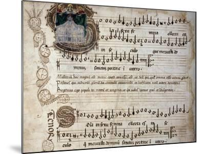 Liber Capella (Song Book) with Music Score of Mass for Four Voices by Heinrich Isaac (1445-1517)--Mounted Giclee Print