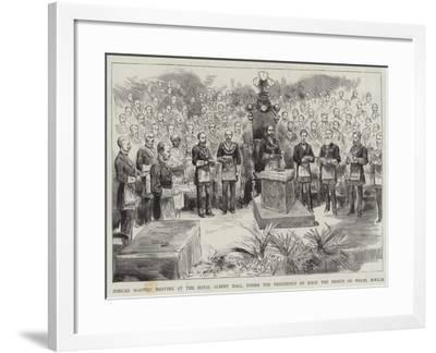 Jubilee Masonic Meeting at the Royal Albert Hall--Framed Giclee Print