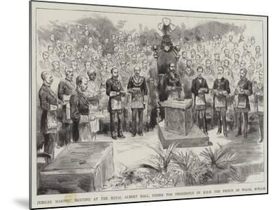 Jubilee Masonic Meeting at the Royal Albert Hall--Mounted Giclee Print