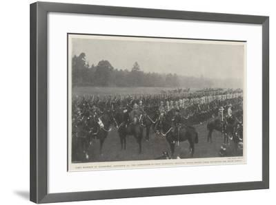 Lord Roberts at Aldershot--Framed Giclee Print