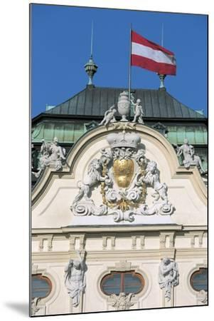 Low Angle View of an Austrian Flag on a Palace--Mounted Giclee Print