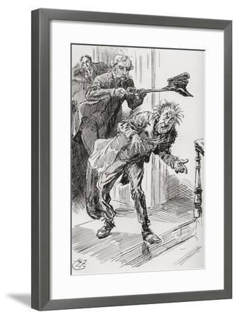Mr. Wrayburn's Method of Ejection. The Fact That Mr. Dolls Exhibited a Tendency to Fall Asleep--Framed Giclee Print