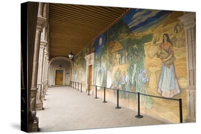 Mural in Clavijero Palace Dedicated to Local Farm Life--Stretched Canvas Print