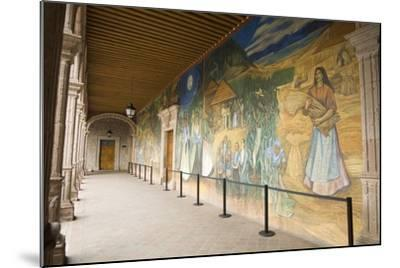 Mural in Clavijero Palace Dedicated to Local Farm Life--Mounted Photographic Print