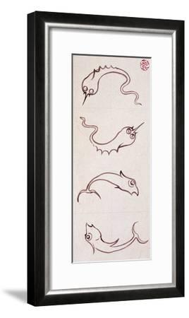 Motifs for Bathroom Tiles--Framed Giclee Print