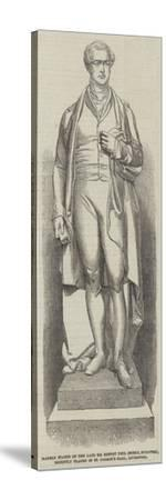 Marble Statue of the Late Sir Robert Peel (Noble--Stretched Canvas Print