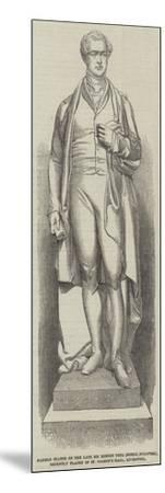 Marble Statue of the Late Sir Robert Peel (Noble--Mounted Giclee Print