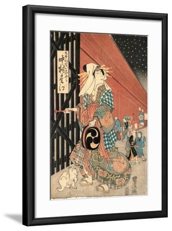 Nakamaru Matsue No Keisei Miyako--Framed Giclee Print