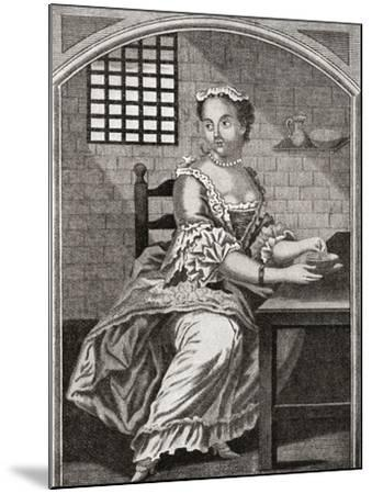 Marie Catherine Taperet 1728 - 1755. Seen Here in Prison before Being Executed in the Place De Grêv--Mounted Giclee Print