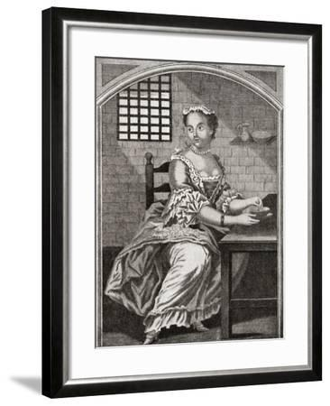 Marie Catherine Taperet 1728 - 1755. Seen Here in Prison before Being Executed in the Place De Grêv--Framed Giclee Print