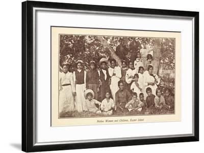 Native Women and Children--Framed Giclee Print