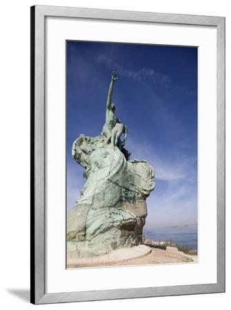 Monument Honoring Heroes and Victims of Sea (1923)--Framed Photographic Print