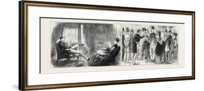Marriage by Advertisement: Left Image: Hatching the Plot--Framed Giclee Print