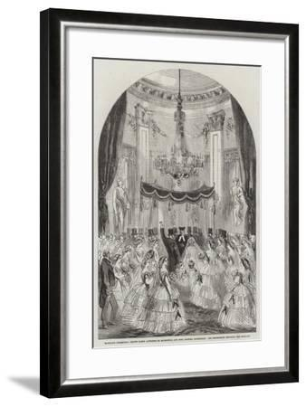 Marriage Ceremonial of the Baron Alphonse De Rothschild and Miss Leonora Rothschild--Framed Giclee Print
