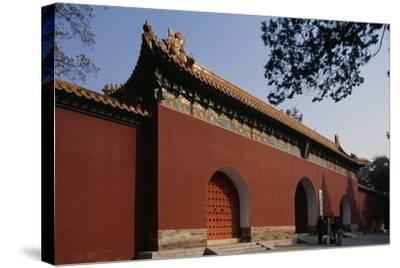 Ming Xiaoling Mausoleum--Stretched Canvas Print