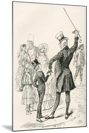 Mr. Micawber Takes David Home.  We Walked to Our House Together--Mounted Giclee Print
