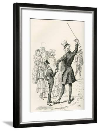 Mr. Micawber Takes David Home.  We Walked to Our House Together--Framed Giclee Print