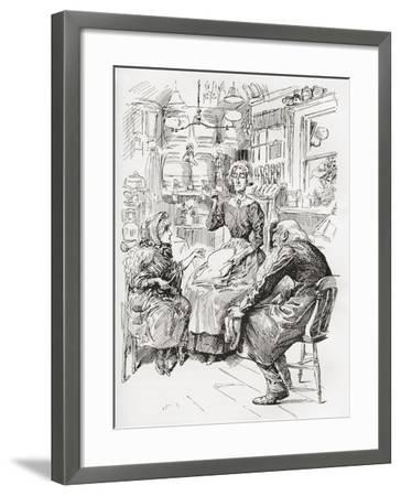 Mr. Riah and Miss Wren at the Six Jolly Fellowship Porters. Stop a Bit--Framed Giclee Print