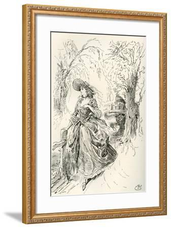 Miss Haredale. Illustration by Harry Furniss for the Charles Dickens Novel Barnaby Rudge--Framed Giclee Print