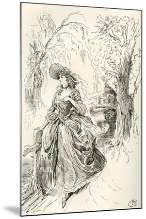 Miss Haredale. Illustration by Harry Furniss for the Charles Dickens Novel Barnaby Rudge--Mounted Giclee Print