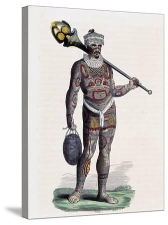 Noukahiwan Man (Oceania)--Stretched Canvas Print