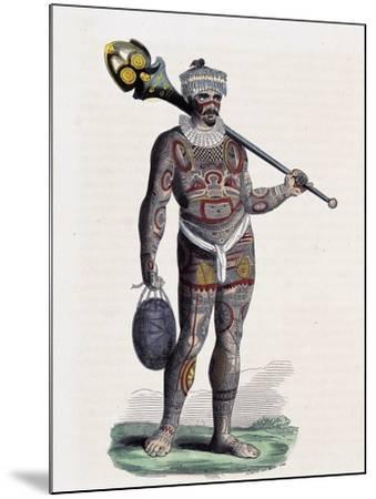 Noukahiwan Man (Oceania)--Mounted Giclee Print