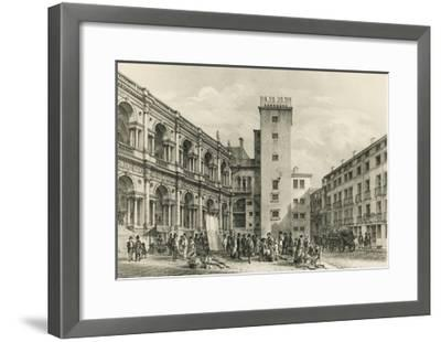 Piazza Delle Erbe in Vicenza--Framed Giclee Print