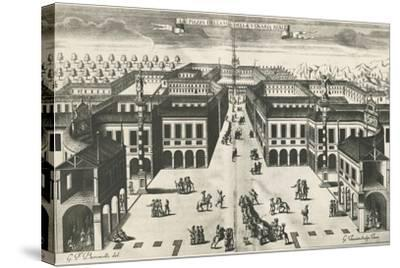 Piazza of Venaria Reale--Stretched Canvas Print
