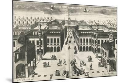 Piazza of Venaria Reale--Mounted Giclee Print