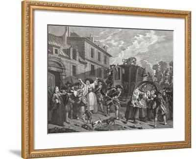 Police Shutting Down a House of Prostitution--Framed Giclee Print
