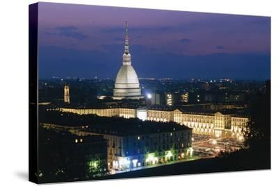 Night View of Turin--Stretched Canvas Print