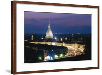 Night View of Turin--Framed Photographic Print