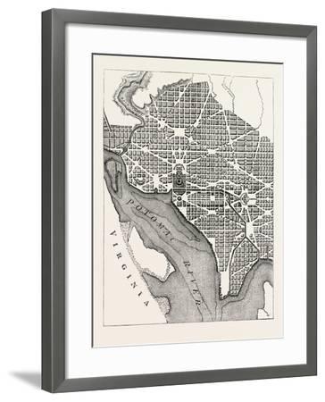 Plan of the City of Washington--Framed Giclee Print