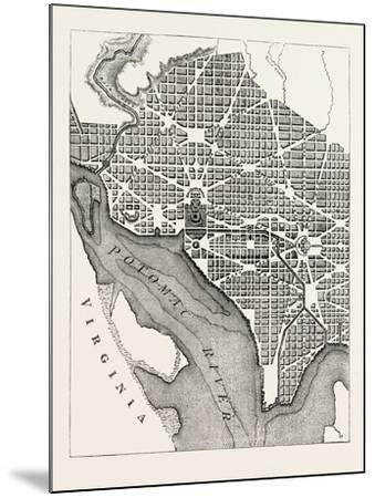 Plan of the City of Washington--Mounted Giclee Print
