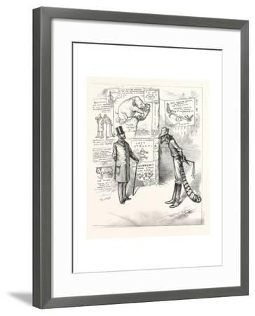 North Means Business. North to South. As Long as Defy Me a Solit Front--Framed Giclee Print