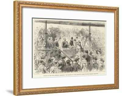 Opening of the Royal Military Exhibition--Framed Giclee Print