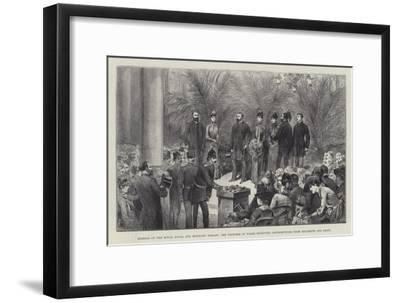 Opening of the Royal Naval and Military Bazaar--Framed Giclee Print