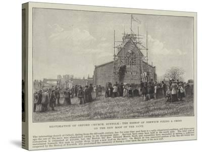 Restoration of Orford Church--Stretched Canvas Print