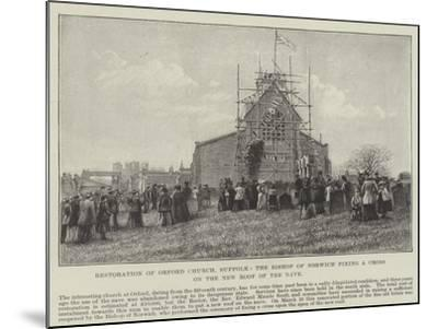 Restoration of Orford Church--Mounted Giclee Print