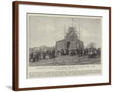 Restoration of Orford Church--Framed Giclee Print
