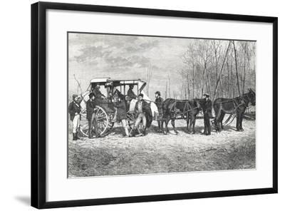 Prairie Stagecoach--Framed Giclee Print