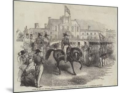 Review of the Honourable Artillery Company--Mounted Giclee Print