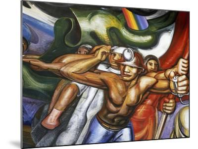 Procession of Men and Women--Mounted Giclee Print